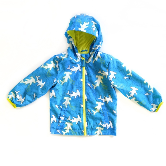 2dfaee3d2 Cat & Jack Jackets & Coats   Boys Cat Jack Blue Neon Shark Rain Coat ...